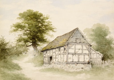 How to build a wooden cabin inside a medieval castle